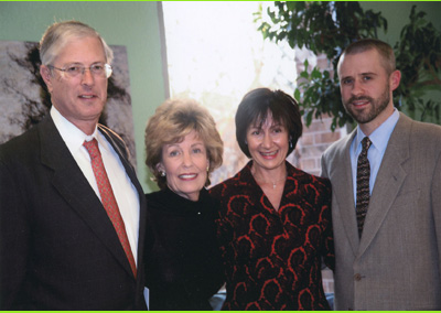 Pictured from Left to Right: Edward and Merry Prostic, MetaCancer Board Members; Moira Mulhern, Turning Point Chief Executive Officer; Michael Lundblad, MetaCancer President