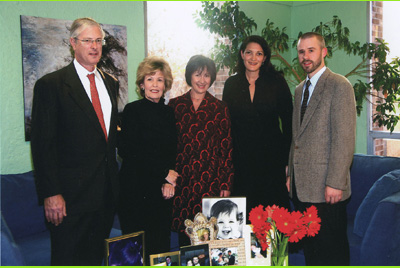 Pictured from Left to Right: Edward and Merry Prostic, MetaCancer Board Members; Moira Mulhern, Turning Point Chief Executive Officer; Missy Neville, Turning Point Counseling Services; Michael Lundblad, MetaCancer President